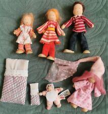 £100 KATHE KRUSE Poseable Miniature Dolls House People Family Baby Fairy Waldorf