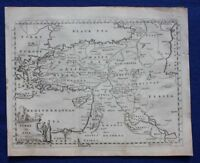 Original antique map TURKEY, 'TURKY IN ASIA', MIDDLE EAST, T. Jefferys, c.1756