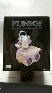 FUNKIT DJ Animated Speaker iPod Dock Docking System Groovy Funky White Silver