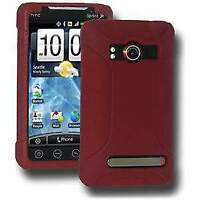 NEW AMZER MAROON RED PREMIUM SILICONE SOFT SKIN JELLY CASE COVER FOR HTC EVO 4G