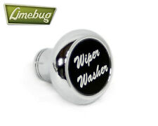 Chrome Deluxe Dash Knob Switch Wiper Washer Black VW Camper Beetle Buggy T1 T2
