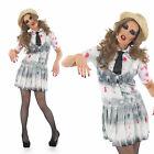 Ladies Sexy Zombie School Girl Fancy Dress Costume Fancy Dress Outfit UK 8-30