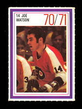 1970-71 ESSO POWER PLAYERS NHL 14 JOE WATSON EX-NM FLYERS UNUSED HOCKEY STAMP