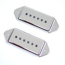 Replacement P-90 p90 Dog-ear Pickup Covers Set 50mm/52mm ,Chrome Plated/Plastic