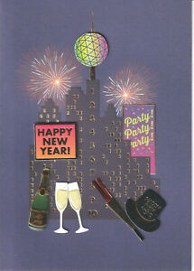 PAPYRUS NEW YEARS CARD NIP MSRP $7.95 HAPPY NEW YEAR CARD  ( i 4)
