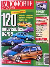 L'Automobile 3/1993; Dossier Nouveauté/ Renault Argos/ Peugeot 806 et citroen ev