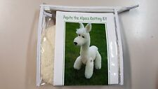 Pepito the Alpaca Knitting Kit to Knit White Alpaca Toy in Alpaca Wool
