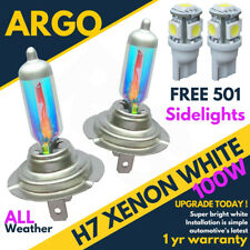 H7 100w Super White Xenon (499) Car Headlight Bulbs 12v W5w 5 Led 194 Sidelights