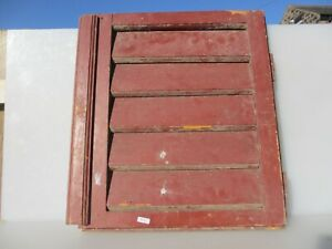"""Antique French Wooden Shutter Window Cover Guard Wood Old 18.5""""x 20.25"""""""