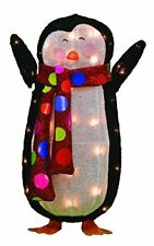 "Product Works 24"" Pre-Lit 3D Victoria Hutto Penguin Christmas Yard Decoration"