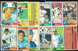 1981 OPC O PEE CHEE TOPPS MLB BASEBALL CARD WHITE BACK 1-125 SEE LIST