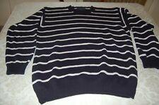 Alcott, Pullover da uomo, Puro Cotone, Blu bianco, come nuovo, tg XL