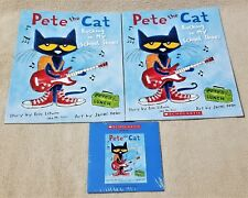 PETE THE CAT ROCKING IN MY SCHOOL SHOES 2 Books & CD Listening Center Scholastic