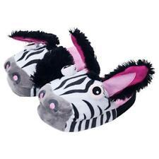 b59eab0c9138f Silly Slipeez Kids Zany Zebra Slippers