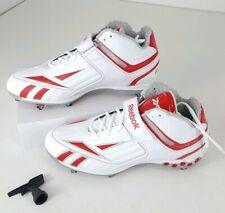 8fe22a06094e Reebok Mens Pro Full Blitz KFS II H D Football Cleats Size 13 White Red