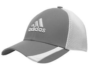 Adidas Cap Golf Tour Radar Flexi Fit Ventilated Mesh Grey & White Brand New