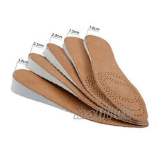 Leather Height Increase Insoles Height Elevator Shoes Insoles Pads US6.5 ~ US9