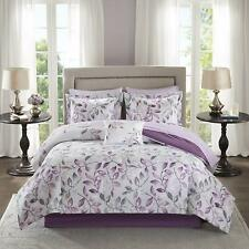 Madison Park Essentials Lafael Twin Size Bed Comforter Set Bed in A Bag - Purple