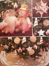CUT & VINTAGE CHRISTMAS DECORATIONS & TREE SKIRT PATTERN 3682