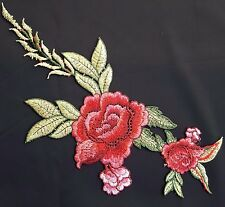 Colourful Floral Embroidery Applique Motif Lace Sewing Trim Haberdashery EB0264