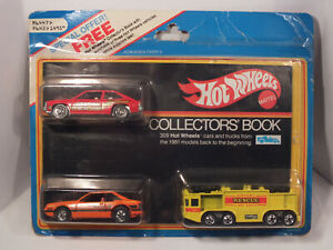 HOT WHEELS 1979 Collectors Book 3Car Pack Citation Turbo Mustang Airport Rescue