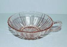 "BEAUTIFUL PINK DEPRESSION 5"" DIAMETER BOWL WITH HANDLE"