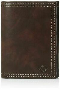 Dockers Men's RFID-Security Blocking Trifold Wallet with Zipper Closure