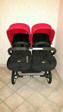Bugaboo Donkey Twin Duo Zwillinge Geschwister 2 Sitze rot schwarz