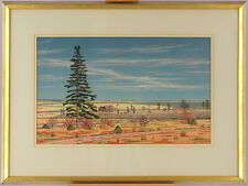 Glenn Adams (1928-2011) Canadian Nava Scotia Watercolor/Gouache Landscape May