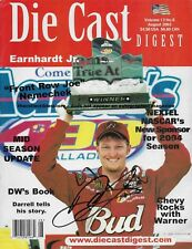 DALE EARNHARDT JR AUTOGRAPHED AUGUST 2003 DIECAST DIGEST NASCAR RACING MAGAZINE