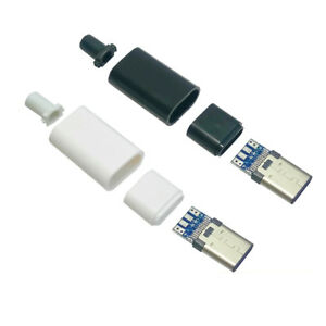 USB 3.1 Type C USB-C 24 PIN 4-Piece Male Plug Connector SMT Solder Housing Cover