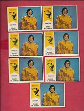 7 X RARE 1974-75 OPC WHA # 62 VANCOUVER BLAZERS ST SAUVEUR ROOKIE  CARD