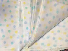 "ONE DOZEN Polka Pastel Dot Cotton Poly PreCut Fabric Squares 7"" each Quilt/Doll"