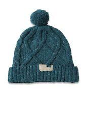 Diesel K TRIANGOLO Wool Knit Cap Beanie Hat, Blue UNI $78 BNWT