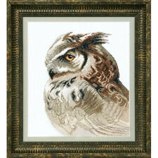 Counted Cross Stitch Kit Wise eagle owl