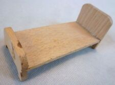 Vintage Dolls House Furniture - Dol-Toi Narrow Wooden Single Bed