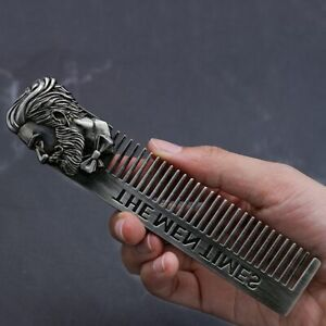 High Quality Cool Men Beard Shaping Template Stainless Steel Beard Comb Men Hair