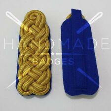 WWII GERMAN GOLD BRAID MAJOR SHOULDER BOARDS ON BLUE