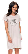DN Nursing 100% cotton nightdress nightshirt 8 10 12 14  breastfeeding 5071