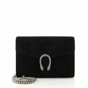 Gucci Dionysus Chain Wallet Suede Small