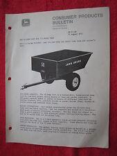 1971 FOR JOHN DEERE DEALERS NEW 50 MOWER DUMP CART FOR'72 BULLETIN/BROCHURE