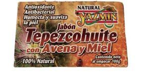 JAZMIN~TEPEZCOHUITE Soap With Oatmeal & Honey~100g~ Jabón Orgánico Regenerador