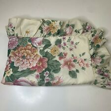 Martha Stewart pillow sham poly cotton blend ruffled edge cream and peony