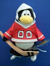 "Disney Club Penguin 8""  Red 00 Hockey Player Series 5 w/Tag, Coin & Code EXC"