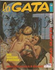 la Gata #3 70's Bronze Age B+W Columbia Spanish Lang F