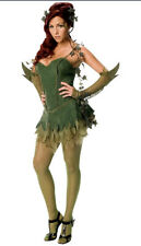 Adult Poison Ivy Fancy Dress Batman Villain Costume Ladies Medium  Size 10-12