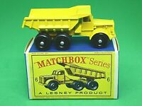 Matchbox Lesney No.6c Euclid Quarry Truck In Type 'D2' Series Box
