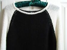 Women STYLE & CO Top Pullover Sweater Sz S  Black & White Color Ret. $54.50