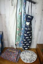 lot of 4 Aprons and 2 Casserole Dish Holders Blue Bell Floral