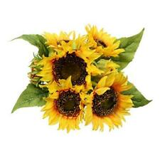 Artificial Sunflower Bouquets 7 Floral Head Vantage Fake Sunflowers Silk